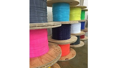 Spools of Coated Cable