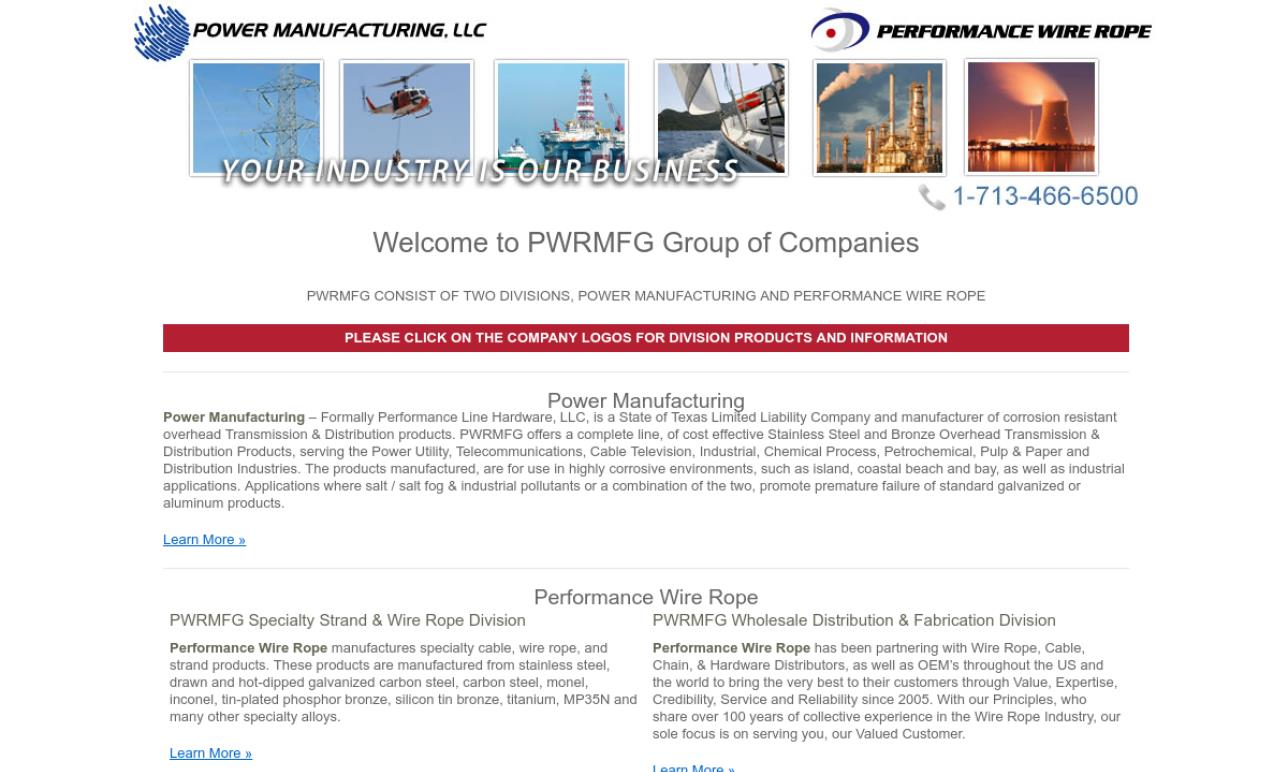 Performance Wire Rope Manufacturing